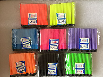 3 of 6 Hollow Antenna Fluo Tips Bristle For Pole Fish Float Pack of 200pcs 1.7mm