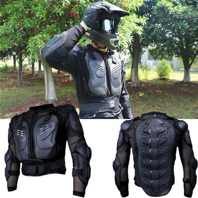 Motorcycle Body Armour Armor Chest Protector Off Road Bike Jacket Black Red