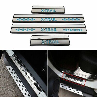 4pcs Chrome Car Door Sill Scuff Plate Guard Sills For Nissan X-trail 2014 - 2015