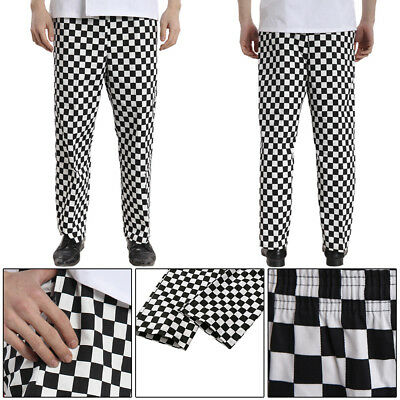 Premier Chef Essential Unisex Trousers Black Check Kitchen Catering Workwear