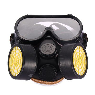 HW- Industrial Gas Chemical Anti-Dust Paint Respirator Mask Glasses Goggles Qual