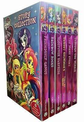 My Little Pony Story Collection Equestria Girls 6 Books Box Set Childrens Gift