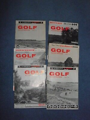 Golf Illustrated Six copies 1966 1967 Good clean condition magazine