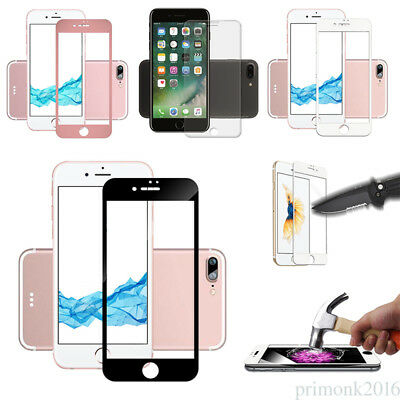 BLACK Glass Full Cover Tempered Glass Screen Protector For Apple iPhone 8 7S 6 5