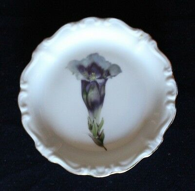 Gorgeous Vintage ROSENTHAL Pin Dish Hand Painted  With Flower Theme
