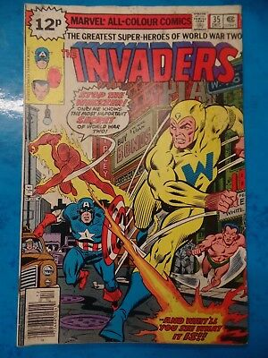 The Invaders #35 December 1978 Bagged Marvel Comic