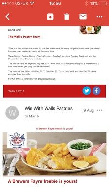 Brewers Fayre 2for1 Up To 3 Meals Per Code