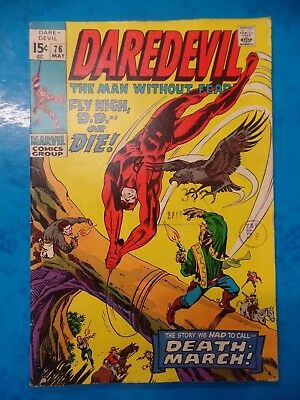 Daredevil #76 May 1971 Bagged Marvel Comic