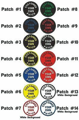 """*GUARANTEED* Custom Embroidered PATCH 3"""" ROUND Curved text """"Iron on"""", Free ship."""