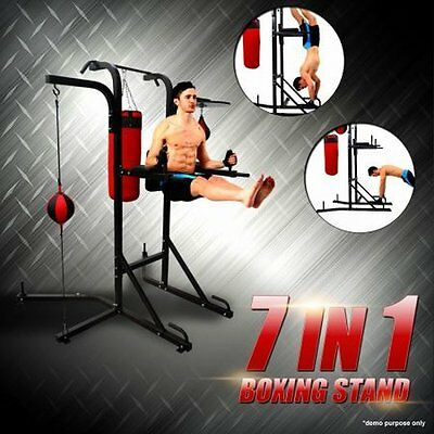 NEW Heavy Duty 4-in-1 Station Fitness Exercise Boxing Stand with Power Tower