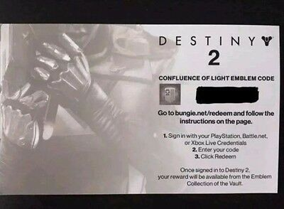 ++EXCLUSIV VON DER GAMESCOM 2017++ Destiny 2 Confluence of Light Emblem Code RAR