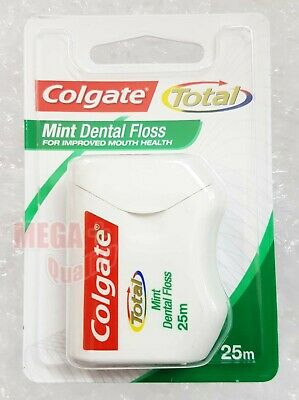 Colgate Total Mint Dental Floss Extreme Clean Flossing Action Fresh Feeling 25m.