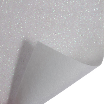 Iridescent White Trimits Glitter Felt A4 Sheet 23cm x 30cm Christmas Crafts