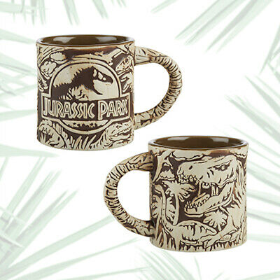 Universal Studios Jurassic Park 3D Sculptured Ceramic Mug New