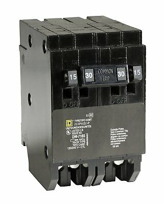 SquareD Homeline CSED 30-Amp 2-Pole 120/240 Quad Circuit-Breaker Load-Switch