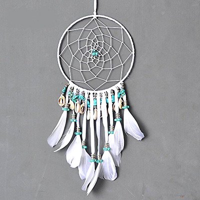 Dremisland Authentic Native American Dream Catcher with shell and Turquoise
