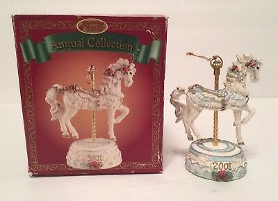 San Francisco Music Box Annual Collection Carousel Horse Ornament 2001 - Defect