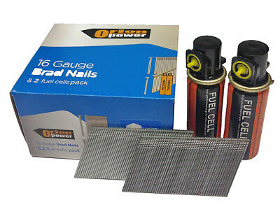 2000xOrion Angle Brad nails+2 fuel cells 16G EG(32-63mm) Paslode Compatible IM65