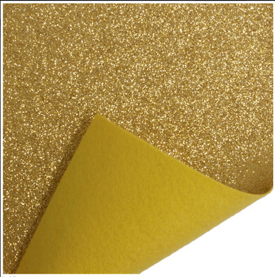 Gold Trimits Glitter Felt A4 Sheet 23cm x 30cm Christmas Crafts