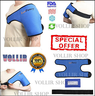 Ice Gel Hot Cold Compress Therapy Pad Pack Wrap For Shoulder Injury Pain Relief