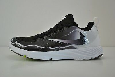 Mens Nike Vapor Speed Turf Lightening Shoes Size 8.5 Black White 847100 010 LTNG