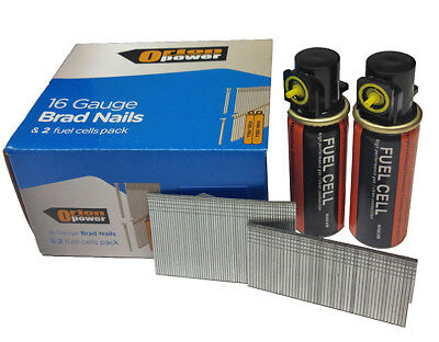 2000xOrion Straight Brad nails +2 fuel cells 16G EG(25-63mm) Paslode IM65