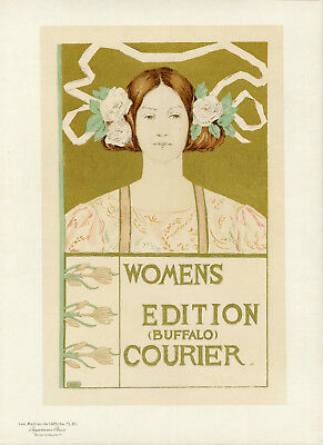 """WOMENS EDITION (BUFFALO) COURIER"" Maîtres de l'Affiche  Alice RUSSELL GLENNY"
