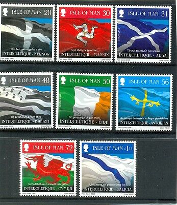 Isle of Man Interceltique set of 8 mnh-Flags of Nations-