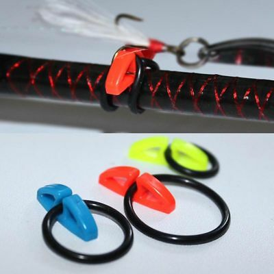 10pcs Rubber Fishing Gear Lures Holders Safe Hanger Hook Secure Keepers