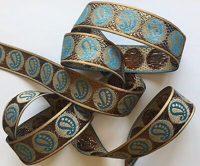 """JASDEE Vintage Jacquard Ribbon 1/"""" Inch Floral Embriodery Style R1009//2"""