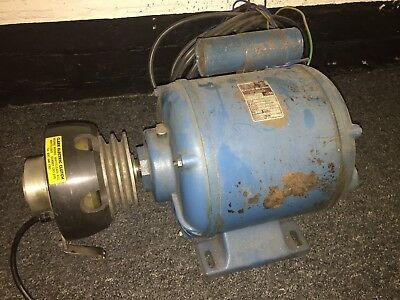 1.5hp 240v Crompton Parkinson Motor With Electro Magnetic Clutch