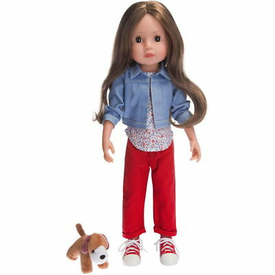 LISA DOLL with Her Dog - 45cm Quality Doll with Thick Hair - by Schildkrot