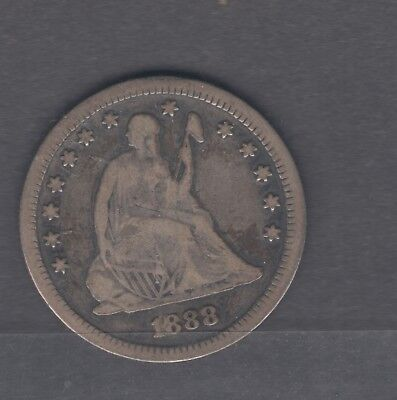 Coins Us 1888-S Seated Quarter