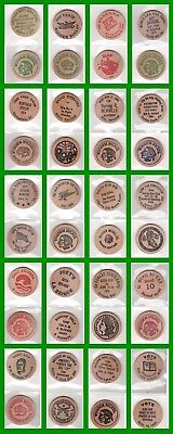Collection Of 20 Buffalo & Indian Wooden Nickels - Goodfers - Births - Clubs