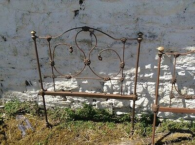 Barn find antique cast iron single bed ends