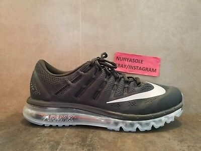 Nike Mens Air Max 2016 Black White Running Shoes (806771 001) Size: 11.5