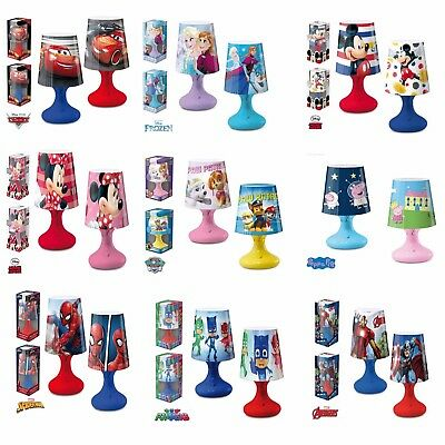 Characters Disney Cars Paw Frozen Colour Changing Led Lamp Kids Children Bedroom