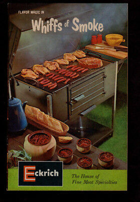 """1965 Eckrich House of Fine Meat """"Flavor Magic- Whiffs of Smoke"""" grilling booklet"""