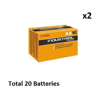 20 x AA Duracell Industrial MN1500 Alkaline 1.5v Batteries for Electronics