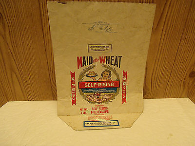 LAST CHANCE Used Maid o'the Wheat 5# Flour Bag Germantown Milling, Kentucky 60'S