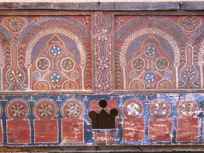 Antique Painted Moroccan Chest