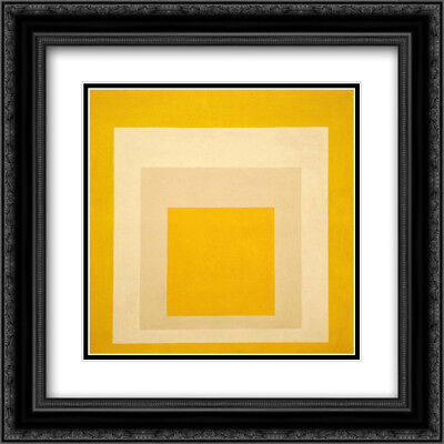 Study For Homage To The Square: Confirmi 2x Matted 20x20 Framed Art by Albers
