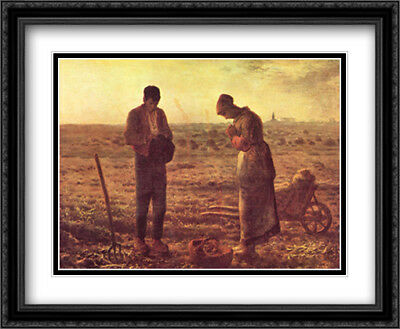 The Angelus, c.1859 2x Matted 34x28 Framed Art Print by Millet, Jean Francois