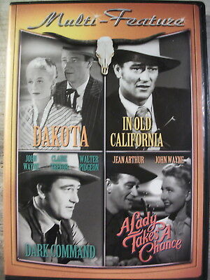 Dakota/In Old California/Ark Command/A Lady Takes A Chance (4 DVD's, 2010)
