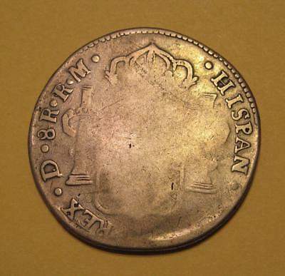 War of Independence 1818 Mexico DURANGO 8 Reales D RM Silver Coin KM# 111.2