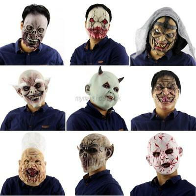 Halloween Adult Latex Bloody Zombie Face Mask Horror Scary Masquerade Costume
