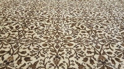 Beautiful Cr1930-1939s Antique Wool Pile 7x10ft  Muted Colors Floral Hereke Rug