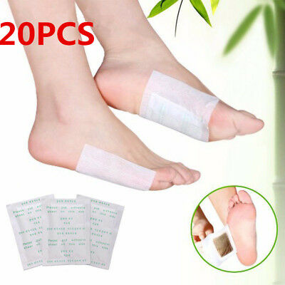 20pcs Detox Foot Pad Patch Detoxify Toxin Keeping Fit Health Care & Adhesive