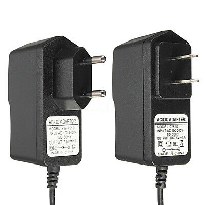 AC 100-240V DC 7.5V 1A 7.5W Switching Power Supply Adapter Charger EU&US Plug m