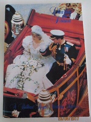 'Charles and Diana: A Brilliant Royal Wedding Souvenir' - Softcover Book - 1981